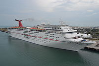 Carnival Ecstasy docked in Port Canaveral, Florida.jpg
