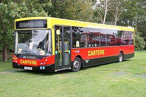 Carters Coach Services - MCV Evolution bodied DAF SB180 in September 2010
