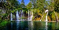 Cascade of waterfalls in Plitvice Lakes National Park. Panorama.jpg