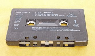 "Cassette single - Tina Turner's ""GoldenEye"" as a cassette single."