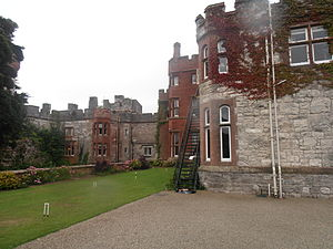 Ruthin Castle - The new Castell Rhuthun (Ruthin Castle) hotel; attached to the old castle.