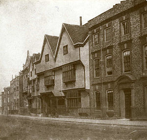 Timeline of Reading, Berkshire - Castle Street, photographed by (or for) Henry Fox Talbot (c. 1845)