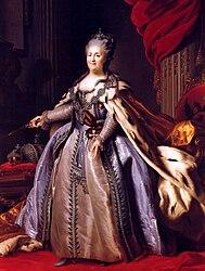 Fjodor Rokotov: Portrait of Catherine II (copy)