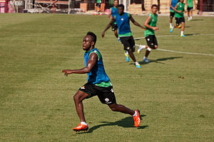 Cedrick Mabwati - Cedrick training with Betis in 2013