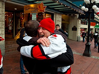 Hug - A hug after a sporting victory