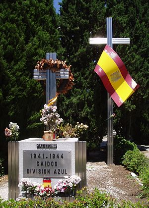 Spain during World War II - Memorial of the Blue Division at La Almudena Cemetery, Madrid.