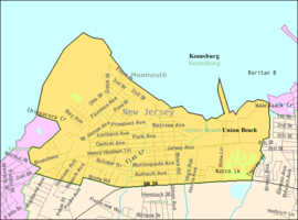 Census Bureau map of Union Beach, New Jersey.png