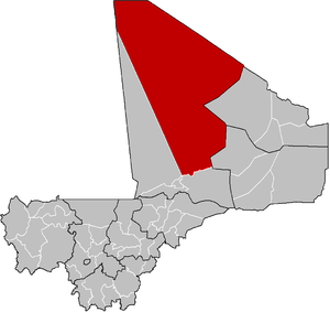 Location of the Cercle of Timbuktu in Mali