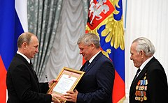 Ceremonies of conferring the honorary title of «City of Military Glory» (2015-06-22) 06.jpg