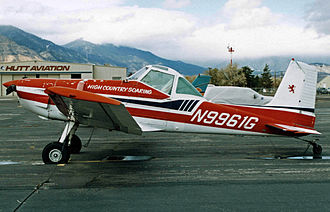 Cessna 188 - 1971-built Cessna A188A AGwagon in use at Minden, Nevada as a sailplane tug