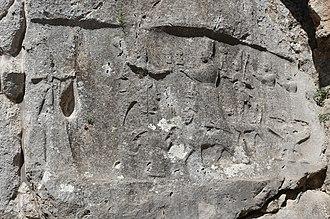 Hurrian religion - The west Hurrian divine pantheon, with Tašmiš, Teššub, Ḫebat, Šarruma, Allanzu and Kunzišalli, rock sanctuary of Yazılıkaya.