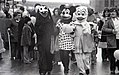 Characters in costume including Minnie Mouse and Donald Duck march in North End Christmas Parade (23123543994).jpg