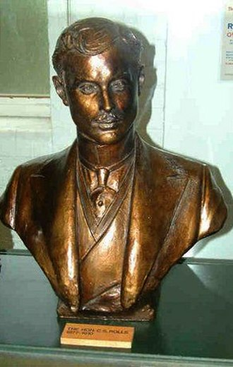 Charles Rolls - Bronze bust at Derby Industrial Museum