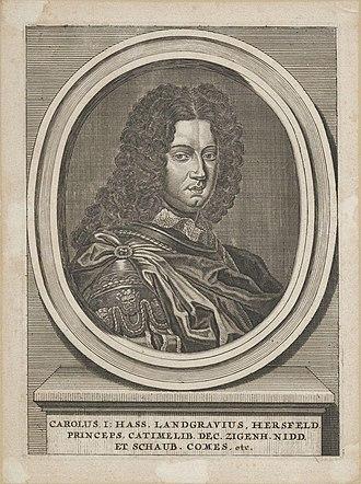Charles I, Landgrave of Hesse-Kassel - Image: Charles I of Hesse Kassel