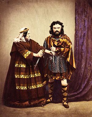 Charles Kean - Charles Kean and his wife as Macbeth and Lady Macbeth, in costumes that aimed to be historically accurate (1858).