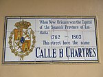 Chartres Street Spanish Tiles at Wilkinson Street, French Quarter, New Orleans, 25th February 2019.jpg