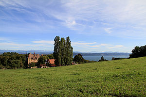 Gorgier - Gorgier castle and Lake Neuchatel