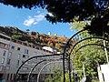Chateau de la bâtie, Mont Salomon, vu du confluence Gère-Rhone.jpg