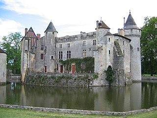 Château de la Brède feudal castle in La Brède, Gironde, France