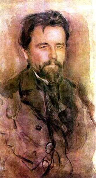 The Bear (play) - Painting of Chekhov by Valentin Serov