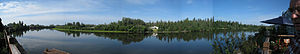 Chena River - A panorama from the banks of the Chena River in Fairbanks
