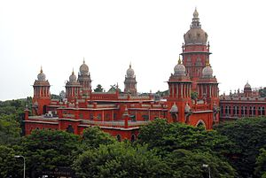 Heritage structures in Chennai - Image: Chennai High Court