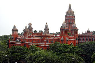 Indo-Saracenic Revival architecture - Madras High Court buildings are a prime example of Indo-Saracenic architecture, designed by J W Brassington under the guidance of British architect Henry Irwin.