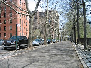 Cherry Street (Manhattan) - East end of Cherry Street at the Vladeck Houses and Corlear's Hook Park.