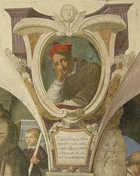 Chiostro di ognissanti, personalità francescane 07 Bentivegna de Bentivenghi.JPG