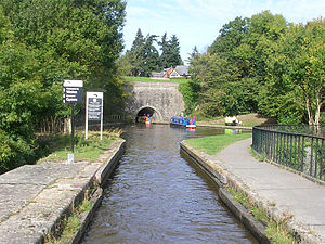 Chirk Tunnel - Chirk tunnel viewed from Chirk aqueduct.