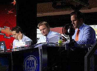 A. J. Pierzynski - Chris Rose (left), Pierzynski (center), and Eric Karros (right) during the pregame show of the 2011 World Series