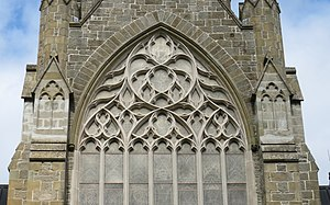 Christ Church Cathedral (Fredericton) - Tracery in the east window of Christ Church Cathedral, Fredericton