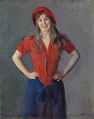 Portrait of the Painter Oda Krohg, b. Lasson