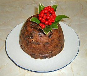 British Christmas Cake.Christmas Pudding Wikipedia