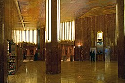 Edificio chrysler wikipedia la enciclopedia libre for Chrysler building lobby mural