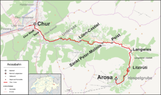 railway line in Swizerland