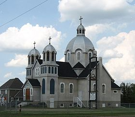 église catholique ukrainienne à Lamont