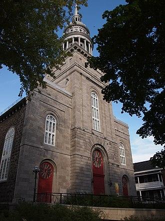 La Prairie, Quebec - Image: Church of La Nativité de la Sainte Vierge in La Prairie