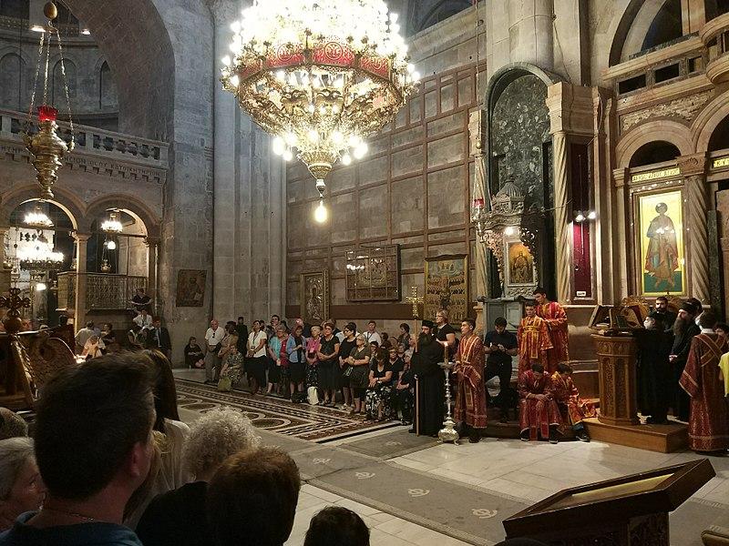 Grabeskirche - Katholikon - Sehenwürdigkeit in Israel - vergrößerbar