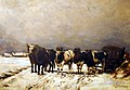 Cinq boeufs sur la neige 1867 Alfred VERWEE.jpg