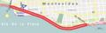 Circuito en la avenida Rambla de Montevideo, entre Ciudadela y Morales.png