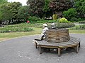Circular seat in Victoria Park - geograph.org.uk - 1885703.jpg