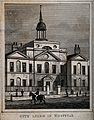 City of London Lying-in Hospital; the facade. Engraving by J Wellcome V0012975.jpg