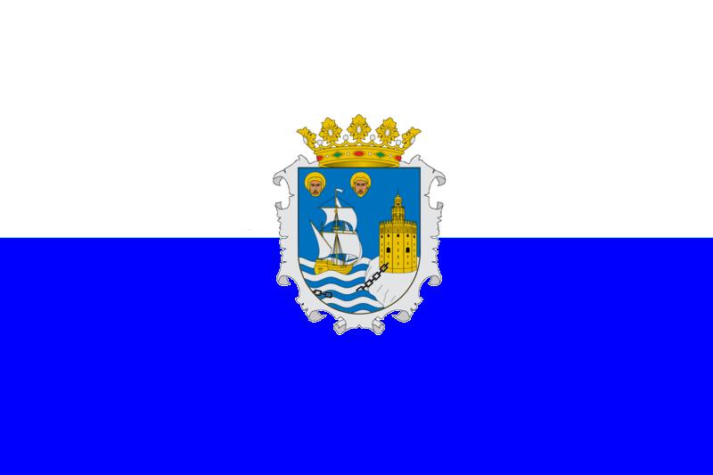 City of Santander, Spain Flag (Oficial version)