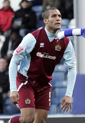 Clarke Carlisle - Carlisle playing for Burnley in 2009