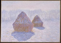 Claude Monet (French, Paris 1840–1926 Giverny) - Haystacks (Effect of Snow and Sun) - Google Art Project.jpg