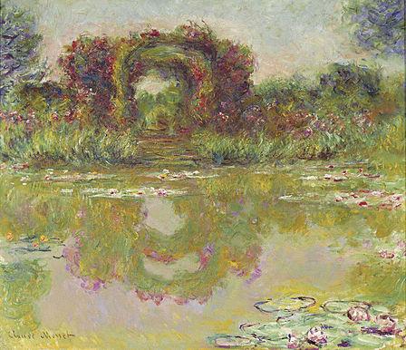 Claude Monet - Les arceaux de roses, Giverny (Les arceaux fleuris)