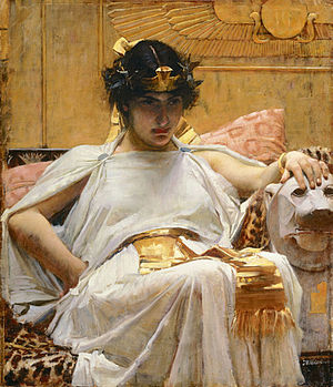 Antony and Cleopatra - Cleopatra by John William Waterhouse (1888)