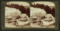Cleopatra Terrace and its mirror like pools - Mammoth Hot Springs, Yellowstone Park, U.S.A, by Underwood & Underwood.png