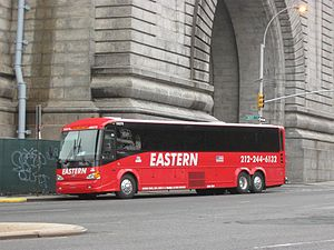 Eastern Shuttle (bus company) - Eastern Shuttle bus in the red livery.